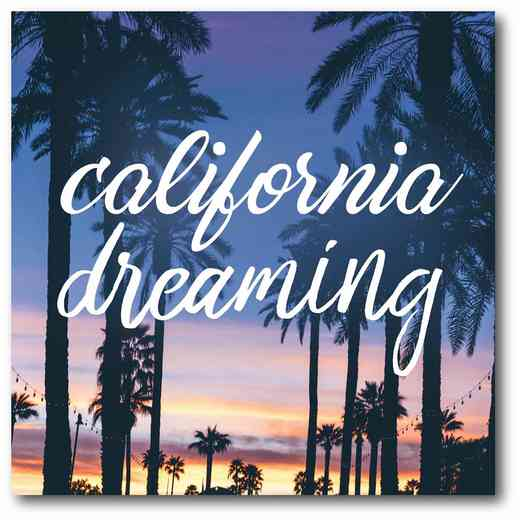 WEB-T614: California Dreaming Canvas 16x16