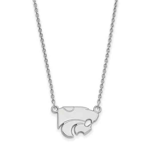 SS015KSU-18: LogoArt Kansas State Small Neck - White