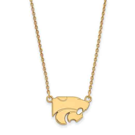 GP015KSU-18: YGFP LogoArt Kansas State Small Neck - Yellow