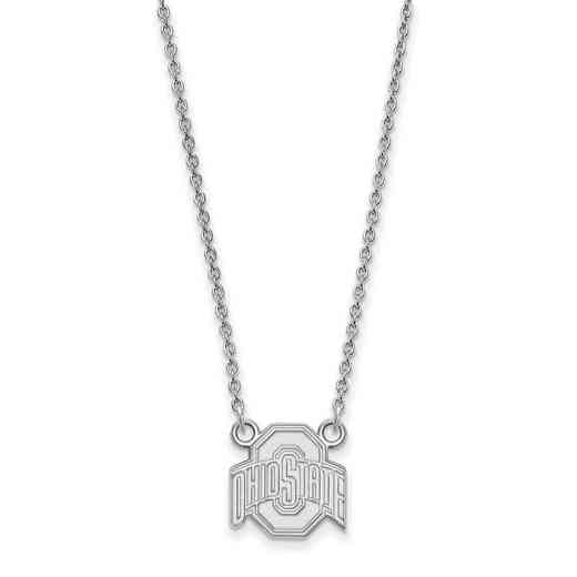 SS015OSU-18: LogoArt Ohio State Small Neck - White