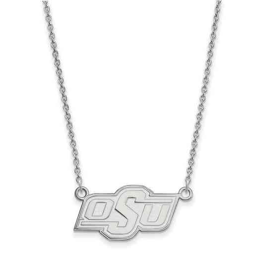 SS014OKS-18: LogoArt Oklahoma State Small Neck - White