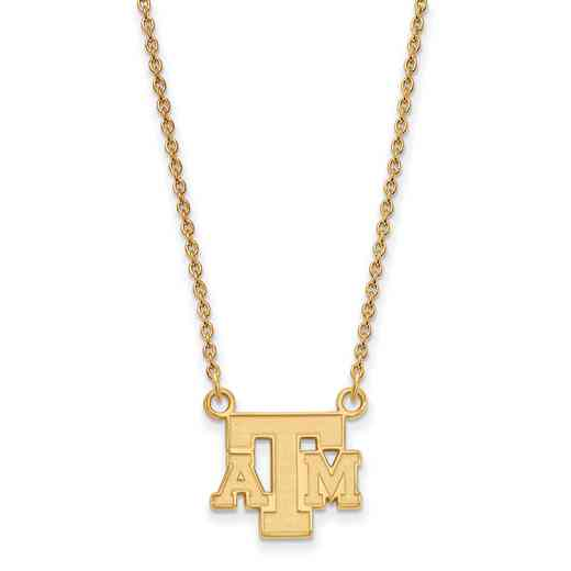 GP060TAM-18: YGFP LogoArt Texas A&M Small Neck - Yellow