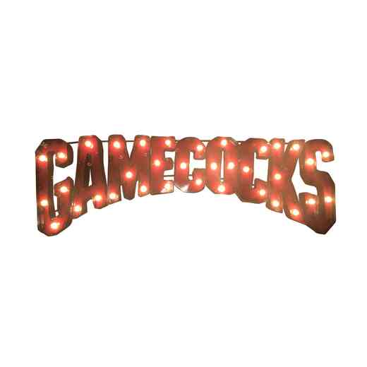 GAMECOCKSWDLGT: SC Gamecocks Metal Décor w/Lights