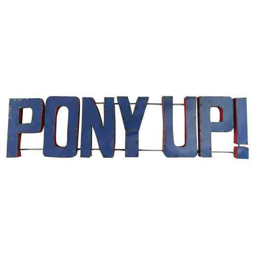 PONYUPWD: SMU Pony Up Metal Décor