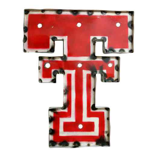 DOUBLETWDLGT: Texas Tech Double T Metal Décor w/Lights