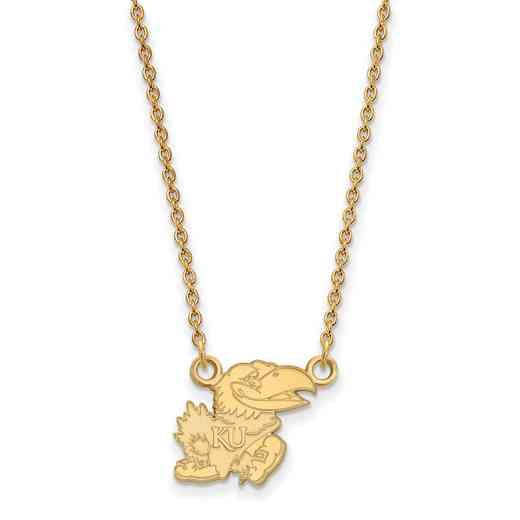 GP057UKS-18: SS YGFP LogoArt Kansas Small Neck - Yellow