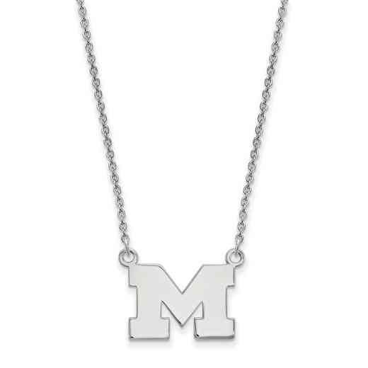 SS015UM-18: SS LogoArt Michigan Small Neck - White