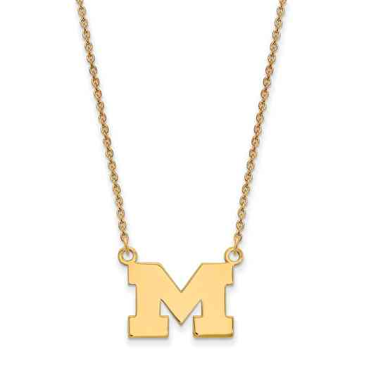GP015UM-18: SS YGFP LogoArt Michigan Small Neck - Yellow