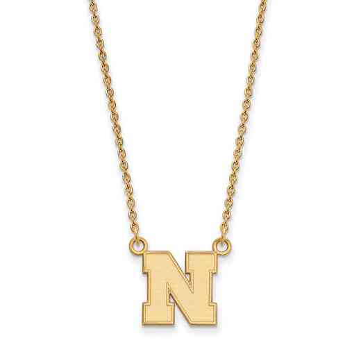 GP073UNE-18: SS YGFP LogoArt Nebraska Small Neck - Yellow
