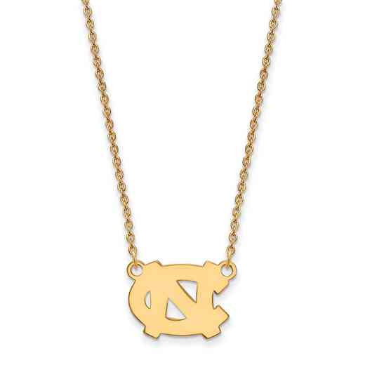 GP014UNC-18: SS YGFP LogoArt North Carolina Small Neck - Yellow