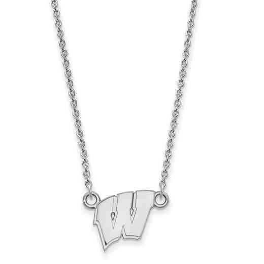 SS015UWI-18: SS LogoArt Wisconsin Small Neck - White