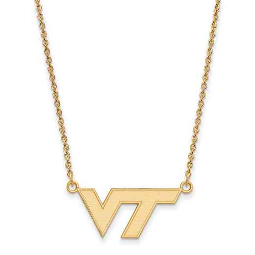 GP009VTE-18: SS YGFP LogoArt Virginia Tech Small Neck - Yellow