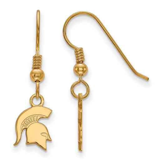 GP048MIS: SS YGFP LogoArt Michigan St XS Dangle Ears - Yellow
