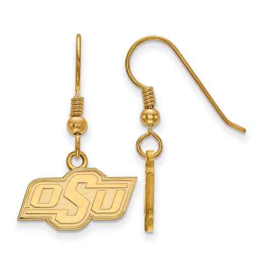 GP005OKS: SS YGFP LogoArt Oklahoma St XS Dangle Ears - Yellow