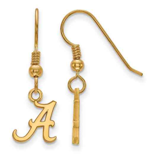 GP006UAL: SS YGFP LogoArt Alabama XS Dangle Earrings - Yellow