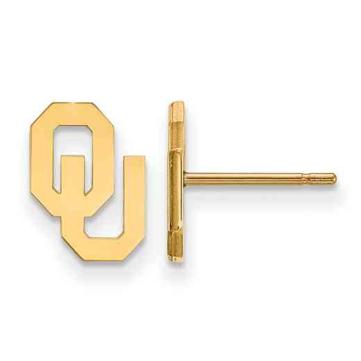 GP008UOK: 925 YGFP Oklahoma XS Post Earrings