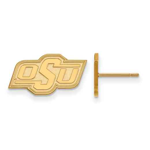 GP007OKS: 925 YGFP Oklahoma State XS Post Earrings
