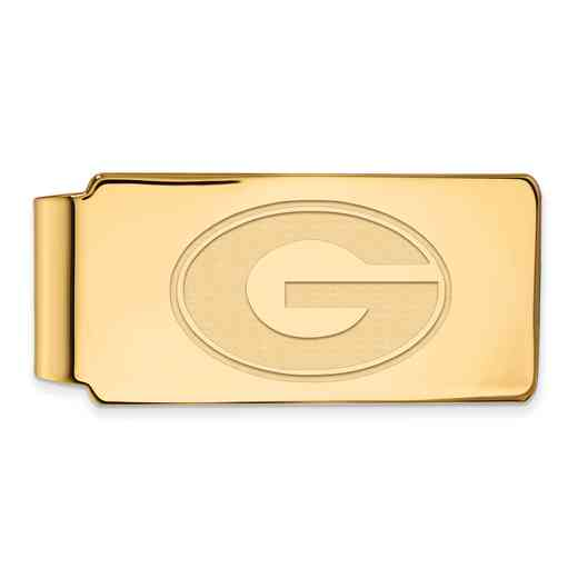 GP025UGA: 925 YGFP Georgia Money Clip