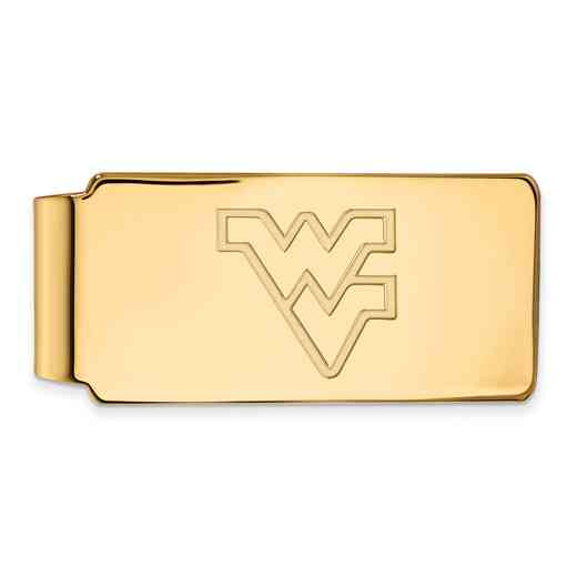 GP025WVU: 925 YGFP West Virginia Money Clip