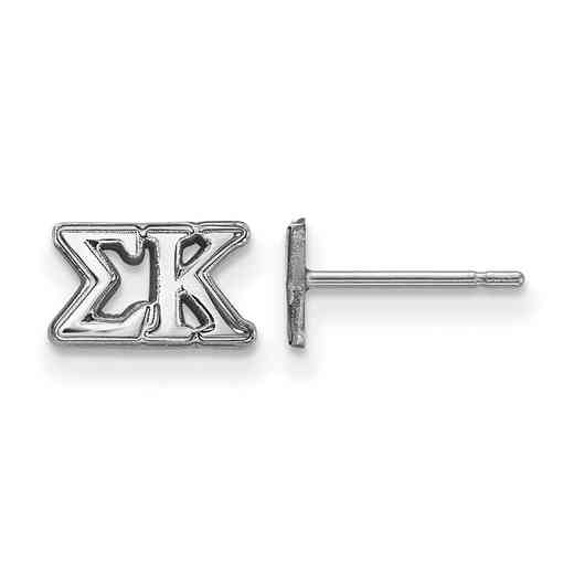 SS005SKP: 925 Logoart SK Post Earrings