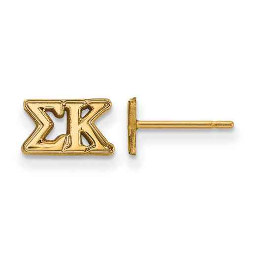 GP005SKP: 925 YGFP Logoart SK Post Earrings