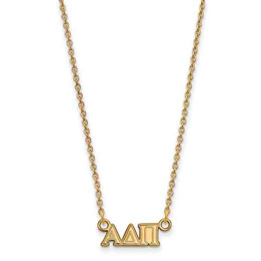 GP006ADP-18: 925 YGFP Logoart ADP Necklace