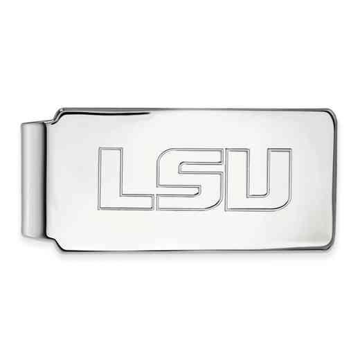 SS019LSU: 925 Louisiana State Money Clip