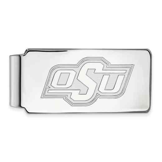 SS024OKS: 925 Oklahoma State Money Clip