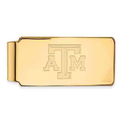 GP019TAM: 925 YGFP Texas A&M Money Clip