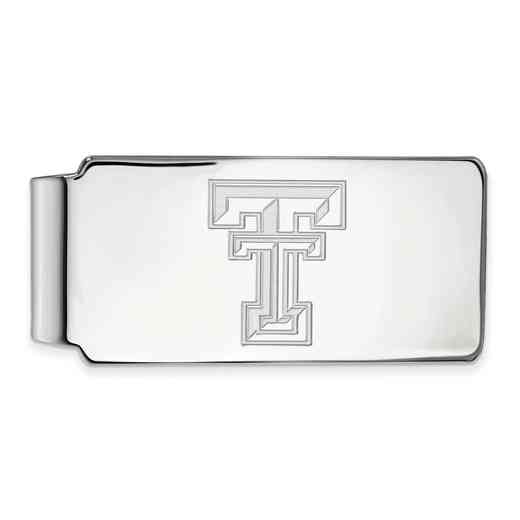 SS025TXT: 925 Texas Tech Money Clip