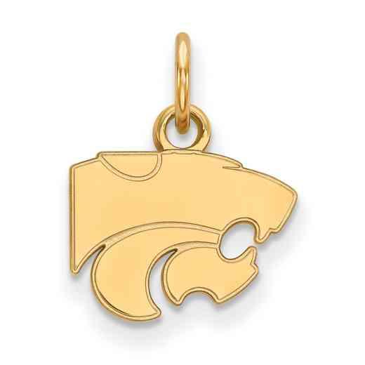 GP001KSU: 925 YGFP Kansas State XS Pendant