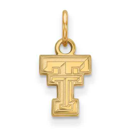 GP001TXT: 925 YGFP Texas Tech XS Pendant
