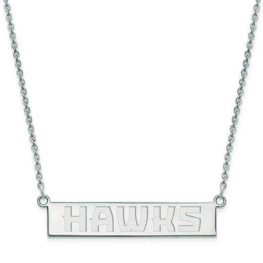 SS023HAW-18: 925 Atlanta Hawks Bar Necklace