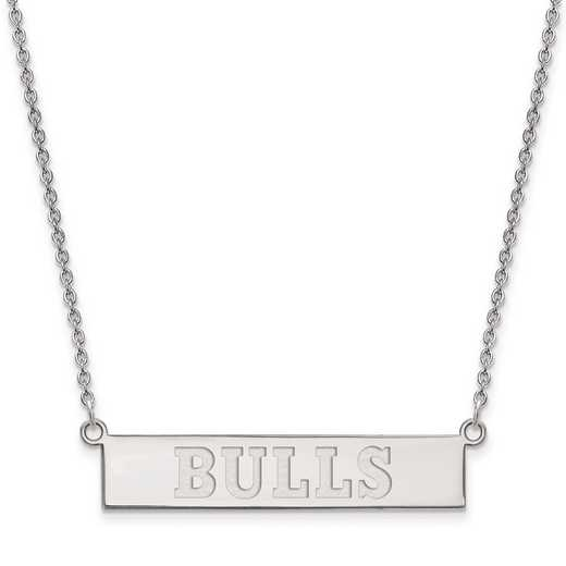 SS027BUL-18: 925 Chicago Bulls Bar Necklace