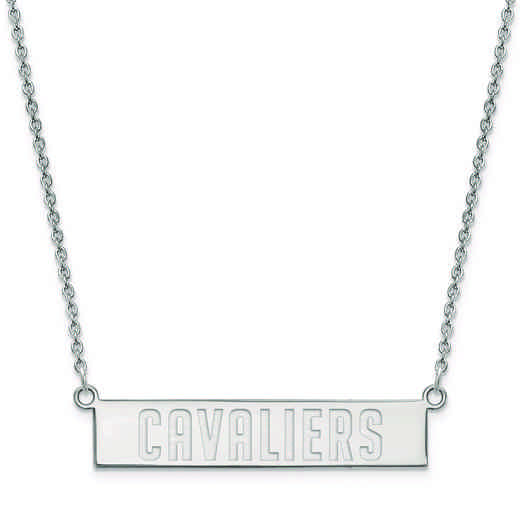 SS037CAV-18: 925 Cleveland Cavaliers Bar Necklace