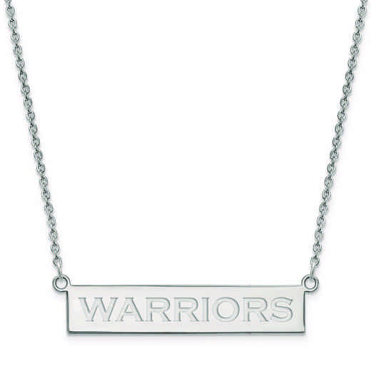 SS031WAR-18: 925 Golden State Warriors Bar Necklace