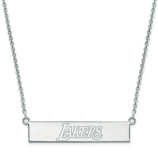 SS035LAK-18: 925 Los Angeles Lakers Bar Necklace