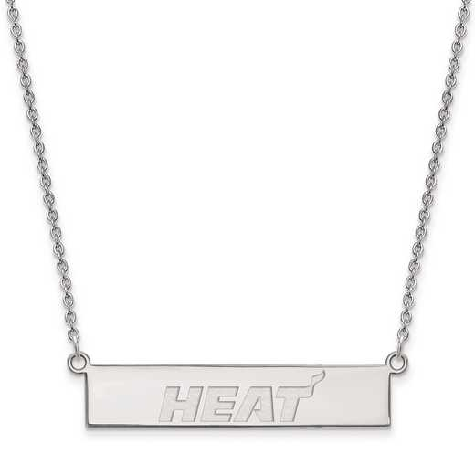 SS027HEA-18: 925 Miami Heat Bar Necklace