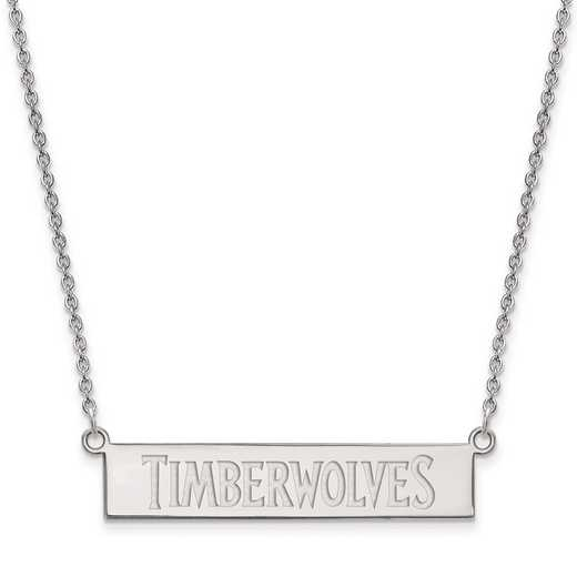 SS023TIM-18: 925 Minnesota Timberwolves Bar Necklace