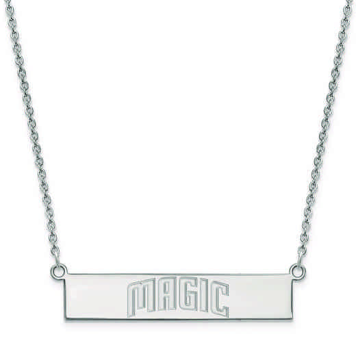 SS021MAG-18: 925 Orlando Magic Bar Necklace