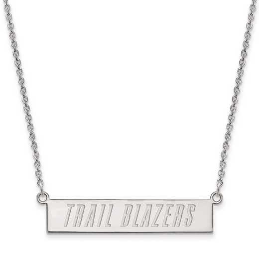 SS023TRA-18: 925 Portland Trail Blazers Bar Necklace