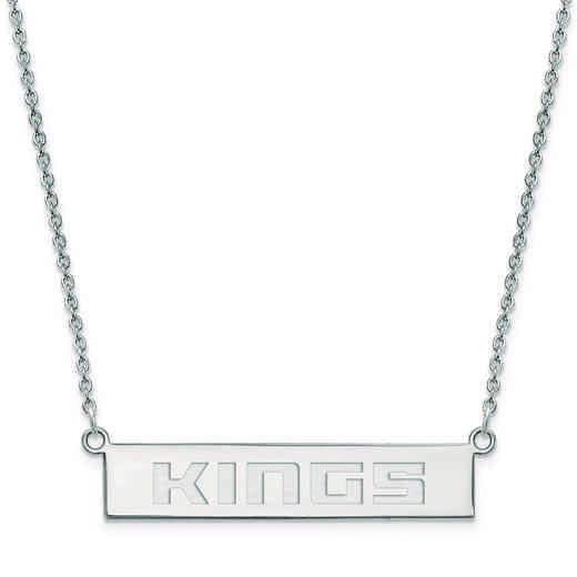 SS023KNG-18: 925 Sacramento Kings Bar Necklace