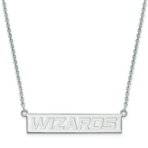 SS022WIZ-18: 925 Washington Wizards Bar Necklace