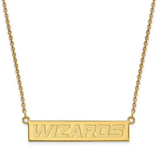 GP022WIZ-18: 925 YGFP Washington Wizards Bar Necklace