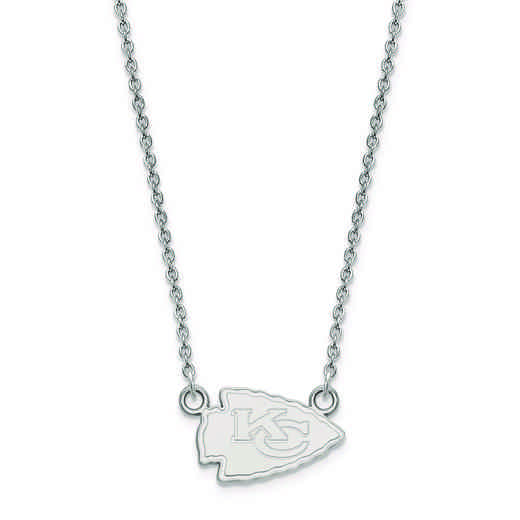 SS011CHF-18: 925 Kansas City Chiefs Pendant Necklace