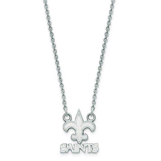SS011SAI-18: 925 New Orleans Saints Pendant Necklace
