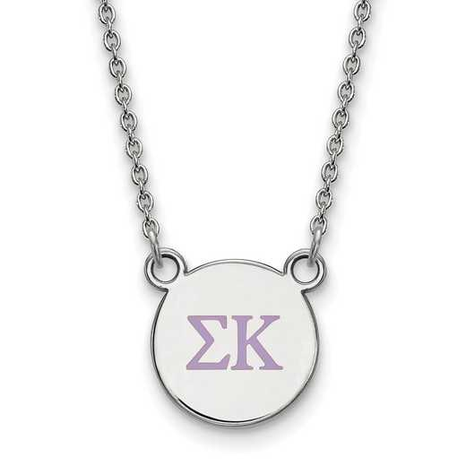 SS027SKP-18: 925 Sigma Kappa Omega Sml Enl Neck