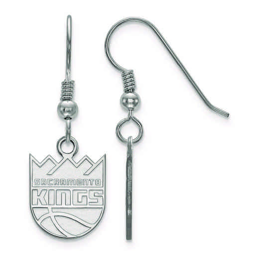 SS006KNG: 925 LogoArt Sacramento Kings Dangle Ears
