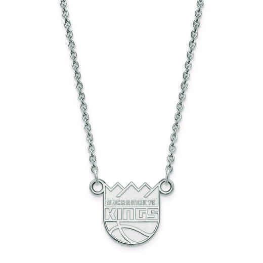 SS012KNG-18: 925 LogoArt Sacramento Kings Pendant Neck