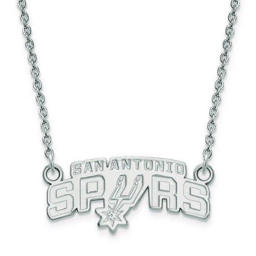 SS010SPU-18: 925 LogoArt San Antonio Spurs Pendant Neck